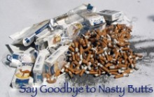 cigarette butts and packs
