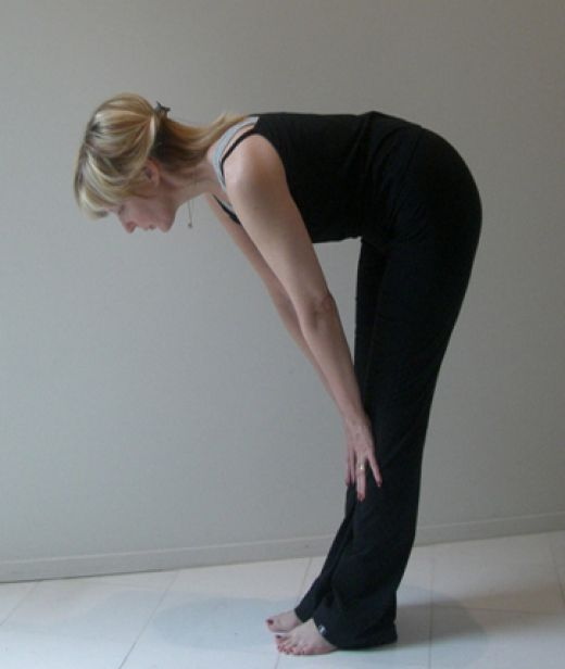 easy yoga hamstring stretch