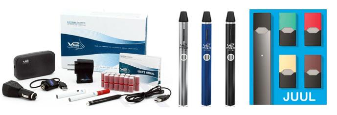 V2 and JUUL ecigarettes