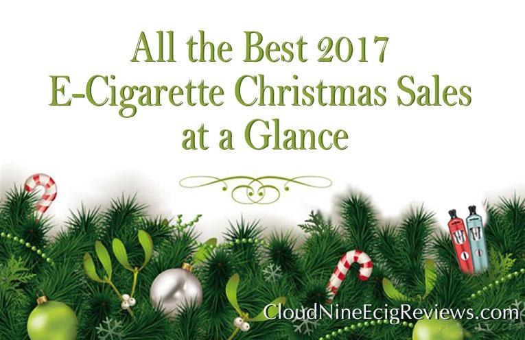 Ecigarette Christmas Sales 2017